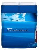 1956 Ford Thunderbird Taillight Emblem Duvet Cover