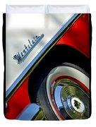 1956 Mercury Montclair Wheel Emblem Duvet Cover