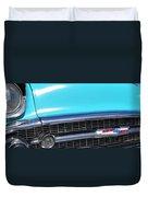 1957 Chevrolet Bel Air Classic Car Panoramic Fine Art Photo  Duvet Cover