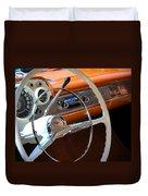 1957 Chevy Dash Duvet Cover
