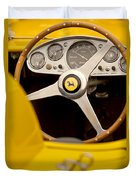 1957 Ferrari 500 Trc Scaglietti Spyder Steering Wheel Duvet Cover
