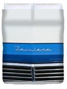 1957 Ford Fairlane Grille Emblem Duvet Cover