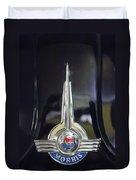 1957 Morris Minor 1000 Traveller Emblem Duvet Cover