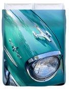 1957 Oldsmobile 98 Starfire Convertible Fender Spear Duvet Cover