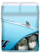 1958 Chevrolet Impala Fender Spear Duvet Cover