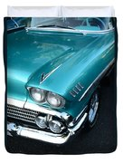 1958 Chevy Belair Front End 01 Duvet Cover