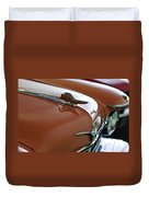 1958 Chrysler Imperial Hood Ornament Duvet Cover