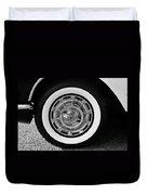 1958 Corvette White Walls Duvet Cover