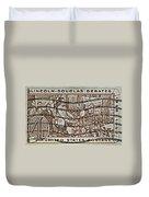 1958 Lincoln-douglas Debates Stamp Duvet Cover