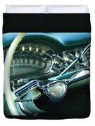 1958 Oldsmobile 98 Steering Wheel Duvet Cover