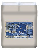 1959 Alaska Statehood Stamp Duvet Cover