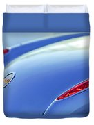 1959 Chevrolet Corvette Taillight Emblem Duvet Cover
