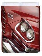 1959 Chrysler 300 Headlight Duvet Cover