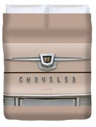 1959 Chrysler New Yorker Emblem Duvet Cover