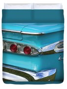 1959 Edsel Corvair Taillights Duvet Cover