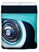 1959 Ford Ranchero Wheel Emblem Duvet Cover