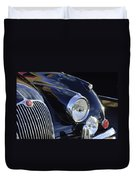 1959 Jaguar S Roadster Headlights Duvet Cover