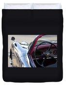 1959 Jaguar S Roadster Steering Wheel 2 Duvet Cover