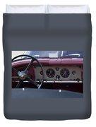 1959 Jaguar S Roadster Steering Wheel Duvet Cover
