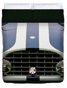 1960 Ac Ace Roadster Grille Emblem Duvet Cover