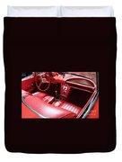 1960 Chevrolet Corvette Interior Duvet Cover