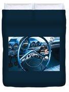 1960 Chevrolet Impala Steering Wheel Duvet Cover