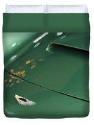 1961 Aston Martin Db4 Series Iv Hood Emblem Duvet Cover