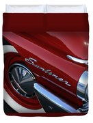 1961 Ford Galaxie Sunliner Convertible Duvet Cover