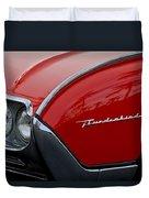 1961 Ford Thunderbird Headlight Emblem Duvet Cover