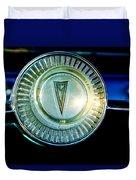 1961 Pontiac Catalina Steering Wheel Emblem Duvet Cover
