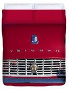 1961 Triumph Tr3a Roadster Grille Emblem Duvet Cover
