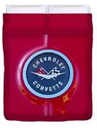 1962 Chevrolet Corvette Emblem Duvet Cover