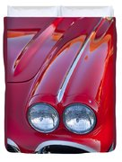 1962 Chevrolet Corvette Headlight Duvet Cover