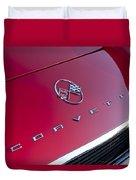 1962 Chevrolet Corvette Hood Emblem 3 Duvet Cover