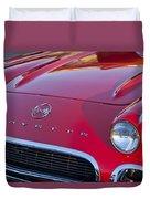 1962 Chevrolet Corvette Hood Duvet Cover