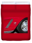 1962 Chevrolet Corvette Wheel Duvet Cover