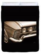 1963 Buick Riviera Sepia Duvet Cover