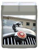 1963 Jaguar Emblem Duvet Cover