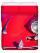 1963 Red Porsche Duvet Cover
