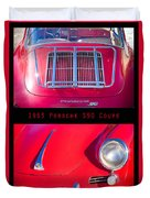 1963 Red Porsche S90 Coupe Poster Duvet Cover