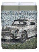 1964 Aston Martin Mosaic Duvet Cover