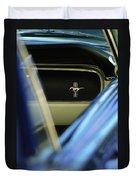 1964 Ford Mustang Emblem Duvet Cover