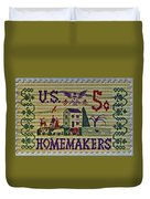 1964 Homemakers Five Cent Stamp Duvet Cover