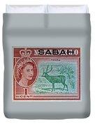 1964 North Borneo Sabah Stamp Duvet Cover
