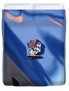 1965 Chevrolet Corvette Emblem Duvet Cover