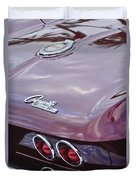 1965 Chevrolet Corvette Tail Light Duvet Cover
