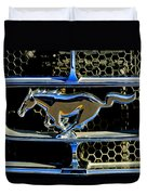 1965 Ford Shelby Mustang Grille Emblem Duvet Cover