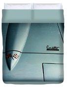 1966 Corvette Sting Ray Hood Insignia Duvet Cover
