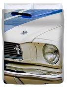 1966 Ford Shelby Gt 350 Grille Emblem Duvet Cover