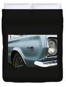 1966 Plymouth Satellite Commando V8 Duvet Cover